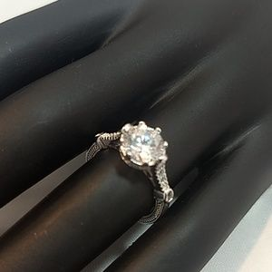 Jewelry - Cubic Zirconia Ring in Silver, Size 5, NWOT